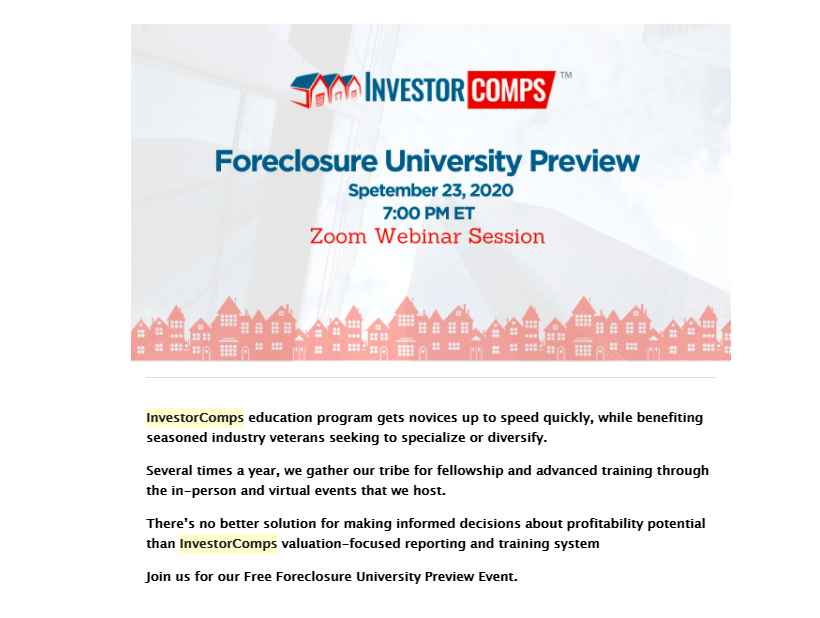 Foreclosure University Preview – Free!